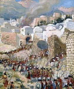 The-Taking-of-Jericho-James-Tissot-1899 Free Image from http://christimages.org/bible-stories/walls-of-jericho.html