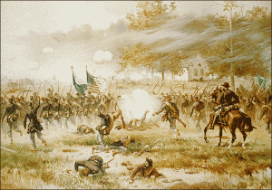 Free drawing of Battle of Antienam www.pageresources.com