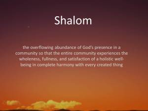 Shalom Love2Justice.wordpress.com photo